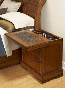 Sliding Top Secret Compartment Nightstand StashVault