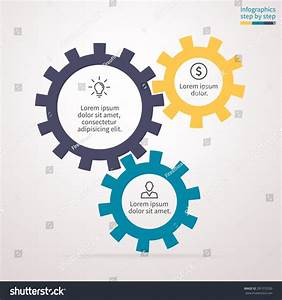 Infographics Step By Step  Abstract Element Of Chart