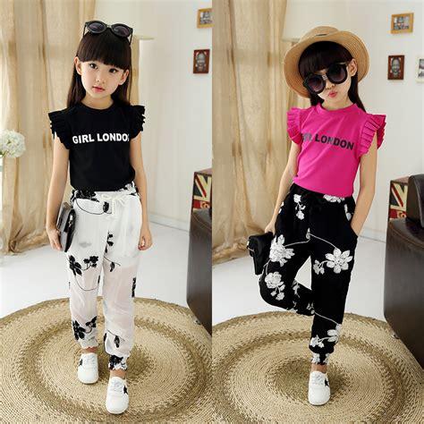 Teenager girls fashion children clothing set wear girls to 2 16 year summer kids clothes set ...