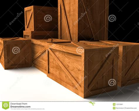 wooden cargo box stock image image