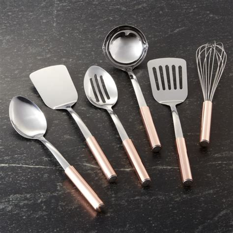 valentines day gifts utensils with copper handles crate and barrel