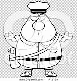 Postal Worker Cartoon Careless Mail Coloring Shrugging Chubby Outlined Clipart Vector Thoman Cory sketch template