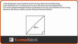 Cm In Zoll Berechnen : pythagoras 3 aufgaben zu quadrat rechteck und dreieck ~ Themetempest.com Abrechnung