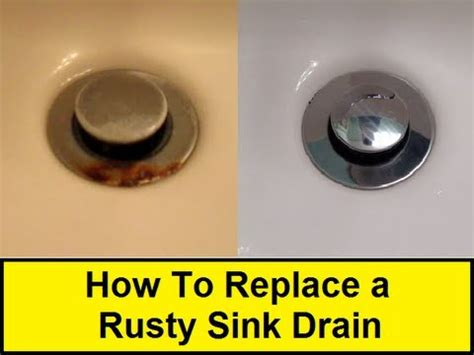 replace  rusty sink drain howtoloucom youtube