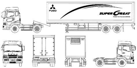 mitsubishi fuso super great semi trailer heavy truck