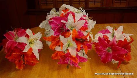 pretty  pink silk wedding flowers