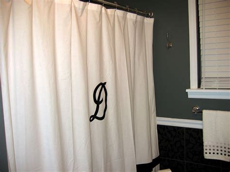 Shower Curtains : Shower Curtain Monogram