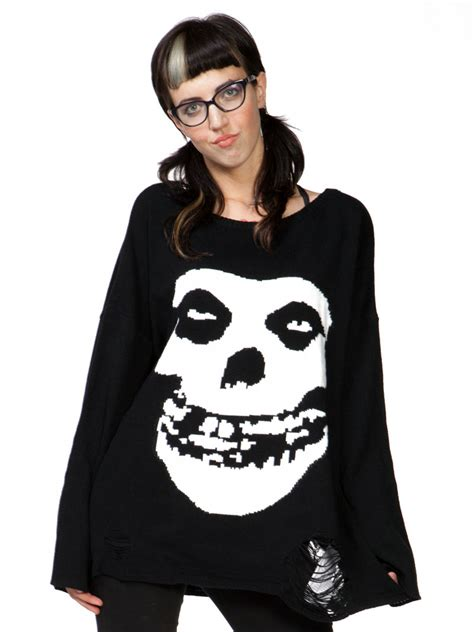 misfits sweater misfits torn sweater by iron