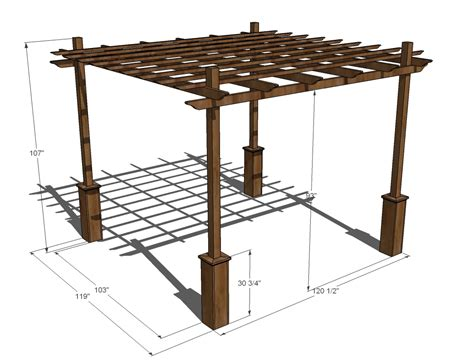 weatherly pergola free and easy diy project and