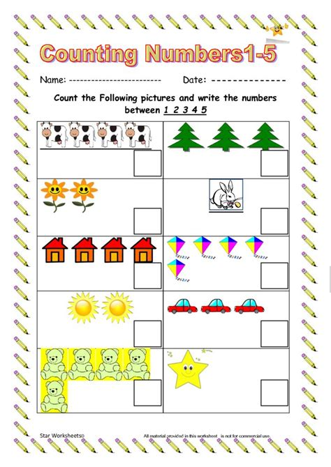 eyfs and reception class numbers worksheets free to download