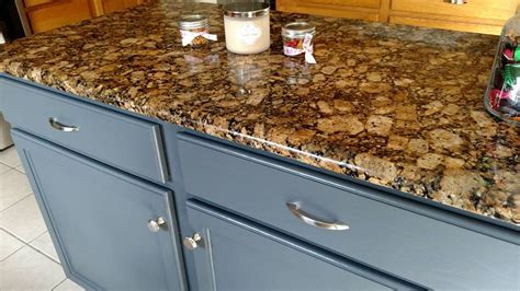 Kitchen Island in GF's Gray Gel Stain   General Finishes