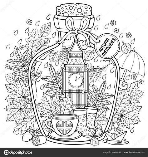 Kleurplaten Voor Volwassenen Herfst by Kleurboek Voor Volwassenen Een Glas Ketel Met Herfst