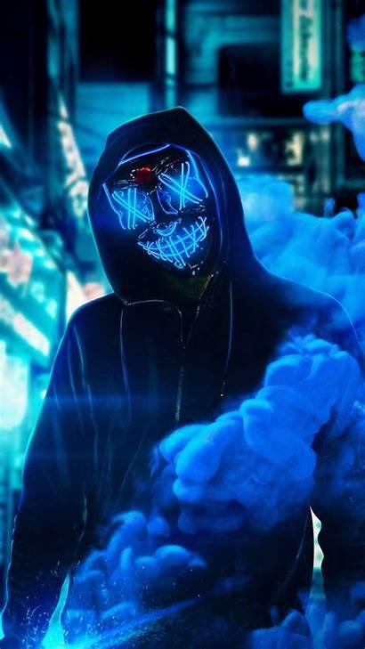 Neon Mask Zedge Wallpapers Guy 4k Iphone
