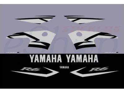 yzf   black grey set eshop stickers