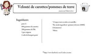 velout 233 de carottes pommes de terre recettes cookeo