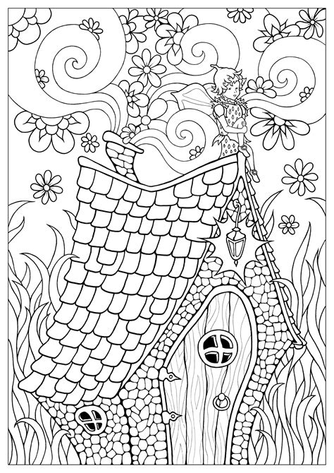 Fairy free to color for children Fairy Kids Coloring Pages