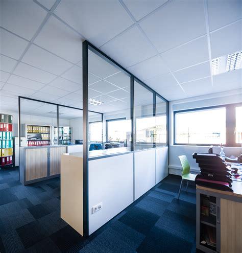 isolation phonique bureau cloison amovible vitrée de bureau open space isolation