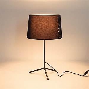 Lampe A Poser Design : lampe poser design noir mora ~ Preciouscoupons.com Idées de Décoration