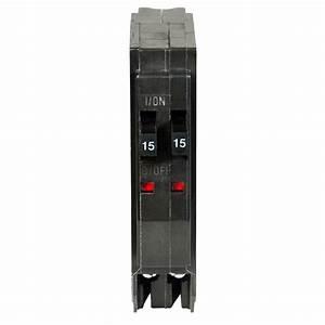 Square D Qo 2-15 Amp Single-pole Tandem Circuit Breaker-qot1515cp