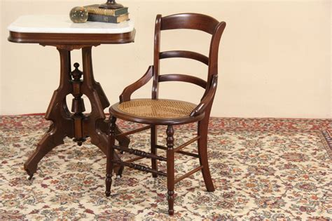 sold victorian maple  side  dining chair  cane