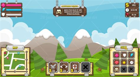 Tower Defense Game Gui Game Art 2d