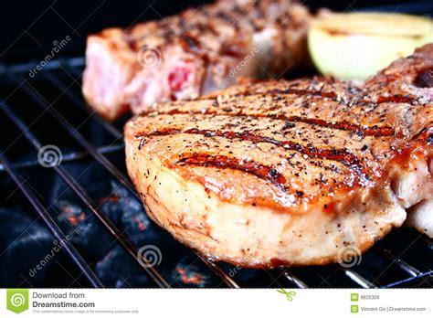 pork chop grill time grilled pork chop royalty free stock images image 6625309