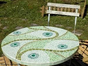 Table Mosaique Jardin : table de jardin en mosa que mosaics pinterest table de jardin mosaique et table ~ Teatrodelosmanantiales.com Idées de Décoration
