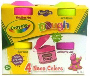 ToyDorks Grand Toys Crayola Dough Neon Colors