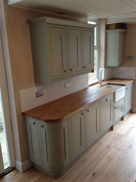 image result  wood worktop sage cabinet kitchen