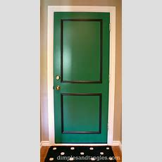 A Little Back Door Fun {& My Paint Color}  Dimples And