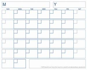 Calendar Grid Blank Calendar Template Free Printable Blank Calendars