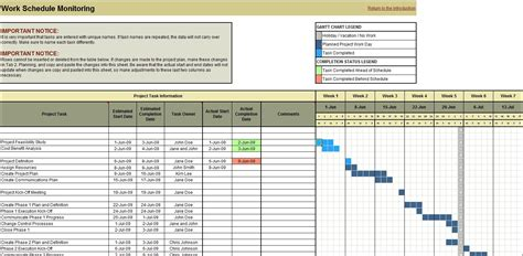 project planning scheduling  monitoring excel tool planning engineer est