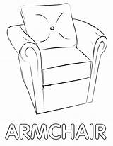 Armchair Coloring Pages sketch template
