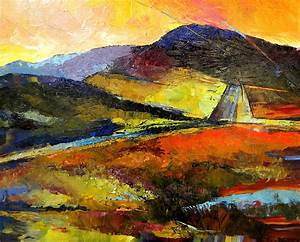 Abstract Landscape Ii Painting Peggy Wilson Wonderful Abstract Landscape Paintings