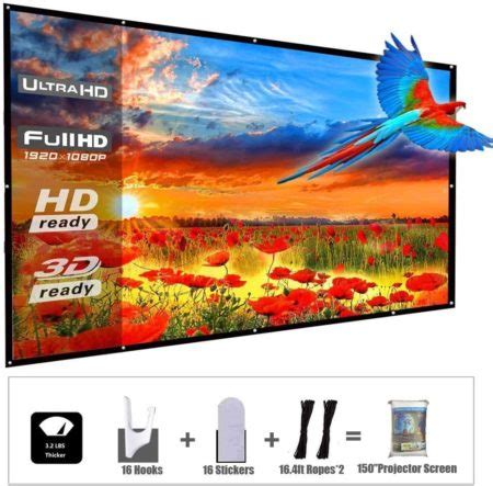 Top 12 Best Portable Projector Screens in 2020 Reviews