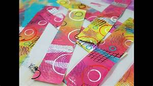 Gelli Plate Packing Tape Transfers
