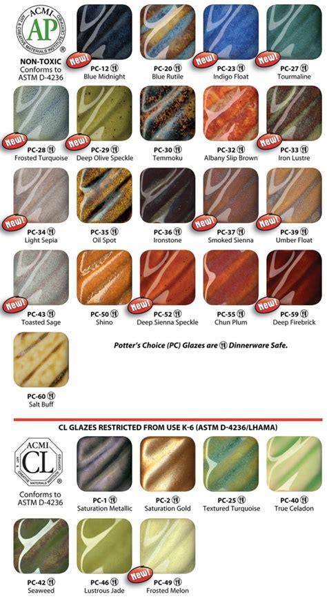 amaco underglazes amaco potters choice glazes pc50 shino