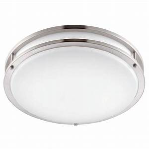 Envirolite in brushed nickel white led ceiling low