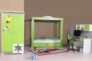 jugendzimmer jungen jungen fuß kinderzimmer football 4 tlg grün weiß jugendzimmer mit torwandbett kaufen bei