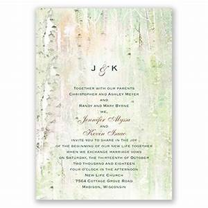 watercolor birch trees wedding invitation at invitations With wedding invitations with birch trees