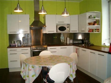 cuisine gris et vert anis deco cuisine vert anis et gris