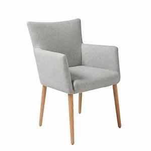 chaise de salle a manger nellie en tissu avec acco achat With chaise salle a manger avec accoudoir
