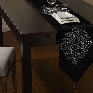 Black Velvet Table Runner With Floral 80 Quot 12