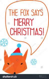 the fox says merry stock vector illustration 162457421
