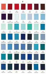 Color Chart - lt blue, ocean blue, nile blue too dark ...