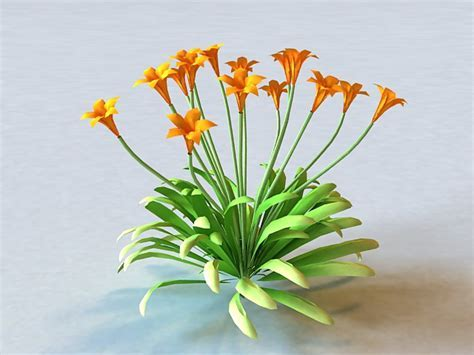 Canna Flowering Plant 3d model 3ds Max files free download