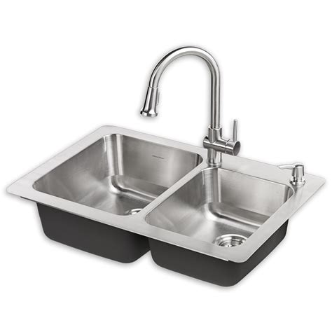 kitchen sink with faucet montvale 33 x 22 kitchen sink with faucet standard