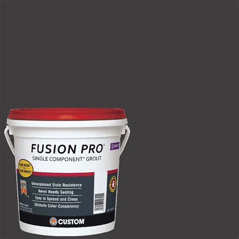 charcoal grout custom building products fusion pro 60 charcoal 1 gal single component grout fp601 2t the