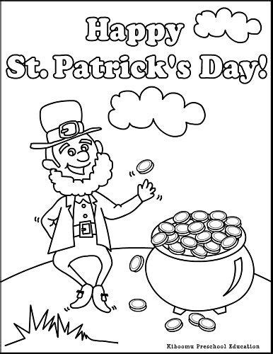 leprechaun coloring page  st patricks day