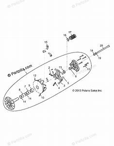 Polaris Side By Side 2018 Oem Parts Diagram For Drive Train  Primary Clutch  Aj  Aw
